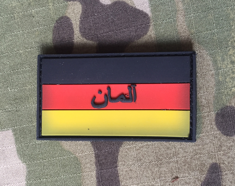 JTG German Flag with Persian Term Small PVC Patch Color - nášivka
