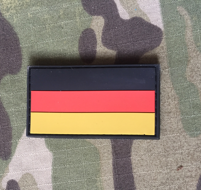 JTG German Flag Small PVC Patch Color - nášivka