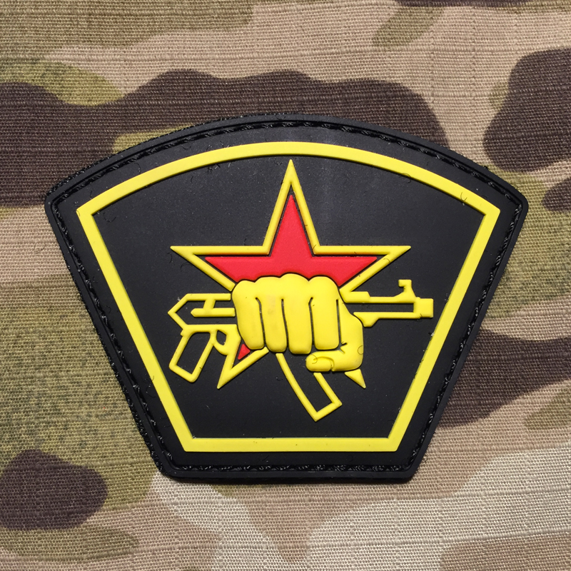 101inc Russian Star First PVC Patch - nášivka