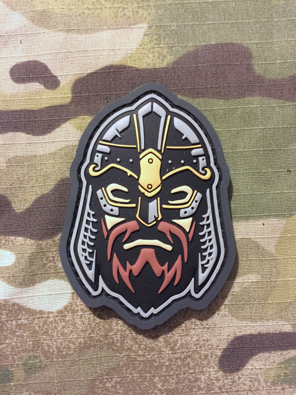 MSM Viking Warrior Head 2 PVC Patch - nášivka
