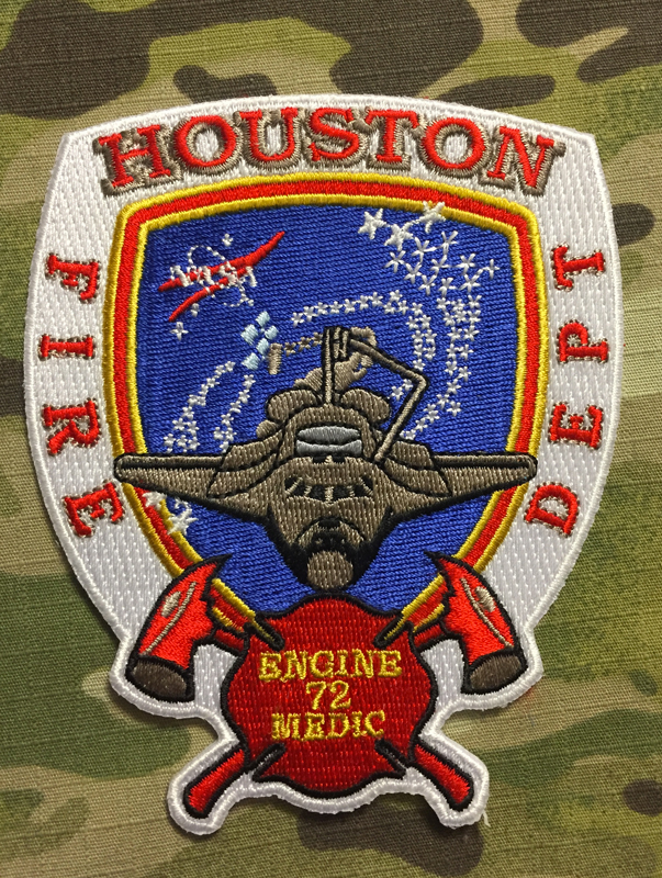911Patches Houston Fire Department Station 72 NASA Patch - nášivka