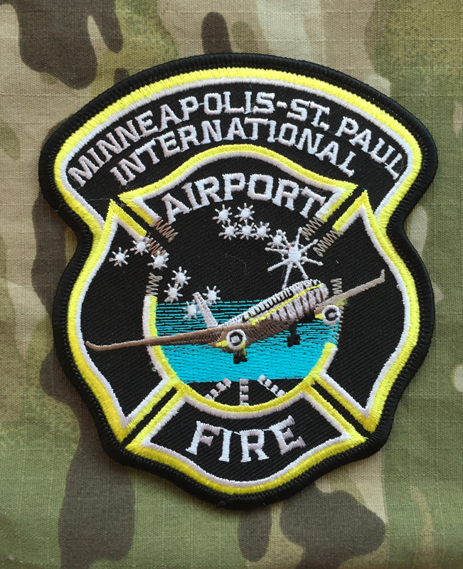 911Patches Minneapolis Saint Paul International Airport Fire Department Patch - nášivka
