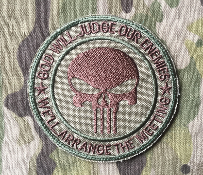 LaPatcheria God Will Judge Our Enemies Punisher Patch