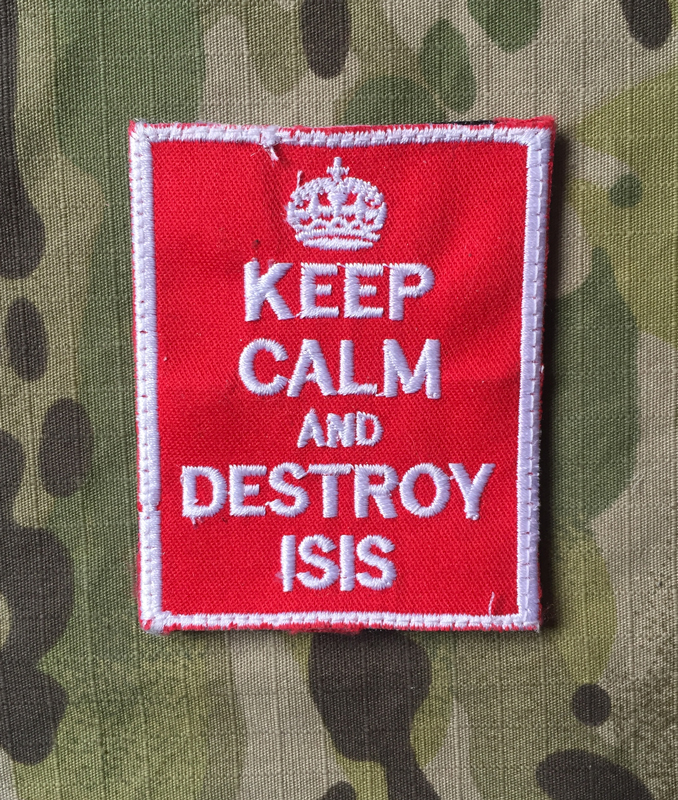 LaPatcheria Keep Calm and Destroy ISIS Patch