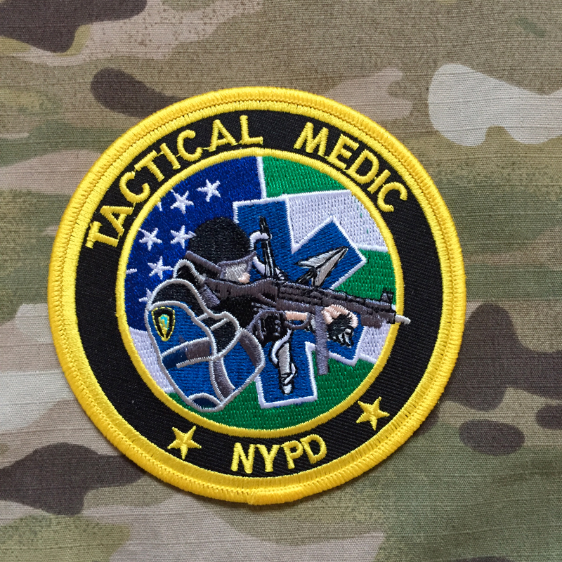 PoliceFirePatches USA NYPD Tactical Medic Patch - nášivka