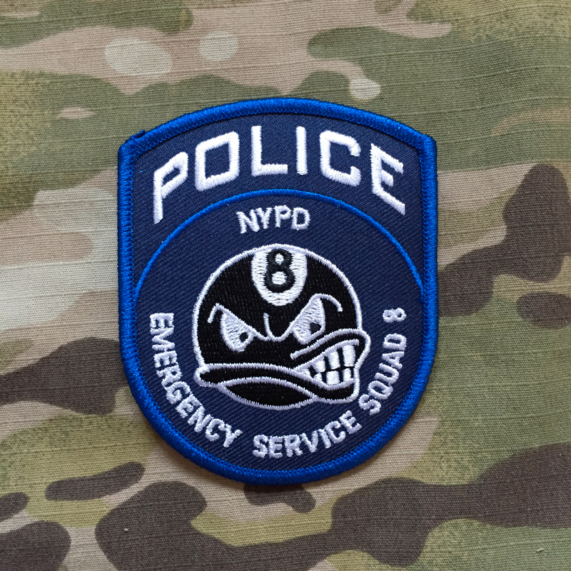 PoliceFirePatches USA NYPD Police Emergency Service Squad 8 Patch - nášivka