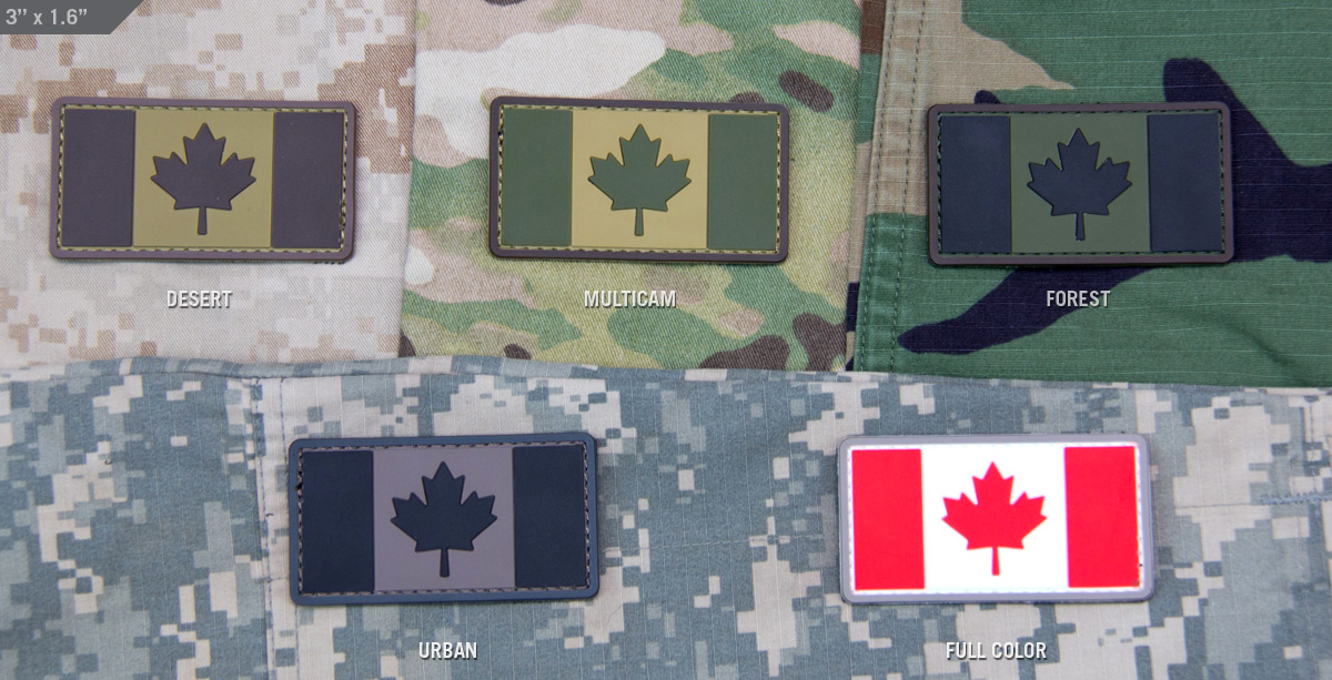 MSM Canadian Flag PVC Patch
