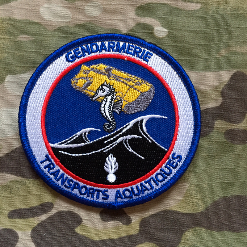 PoliceFirePatches France Gendarmerie Nationale Transports Aquatiques GTA Patch - nášivka