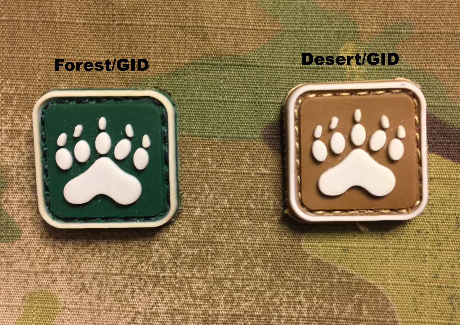 Bear Paw PVC Mini Patch