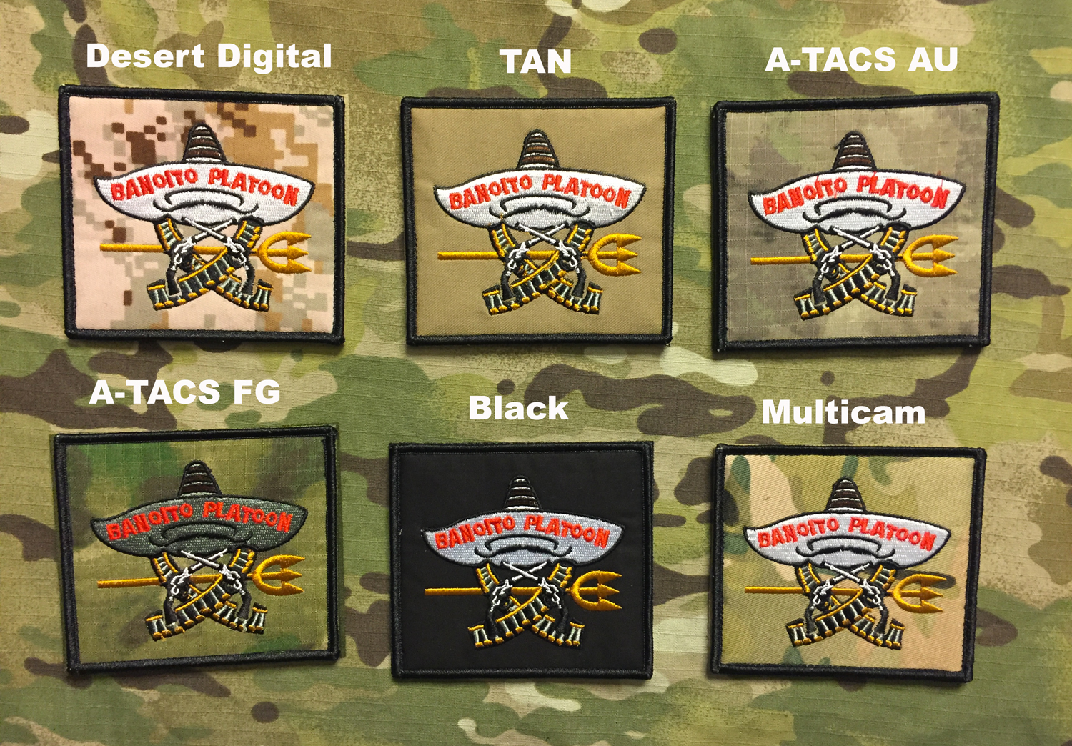 YJPF SEAL TEAM BANDITO PLATOON Patch