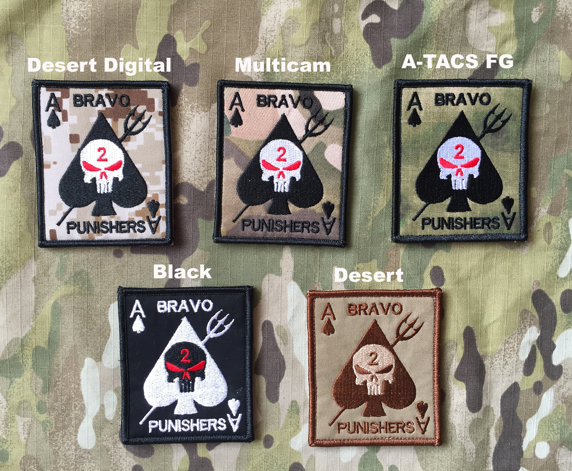 YJPF Bravo Punisher Ace Card Patch