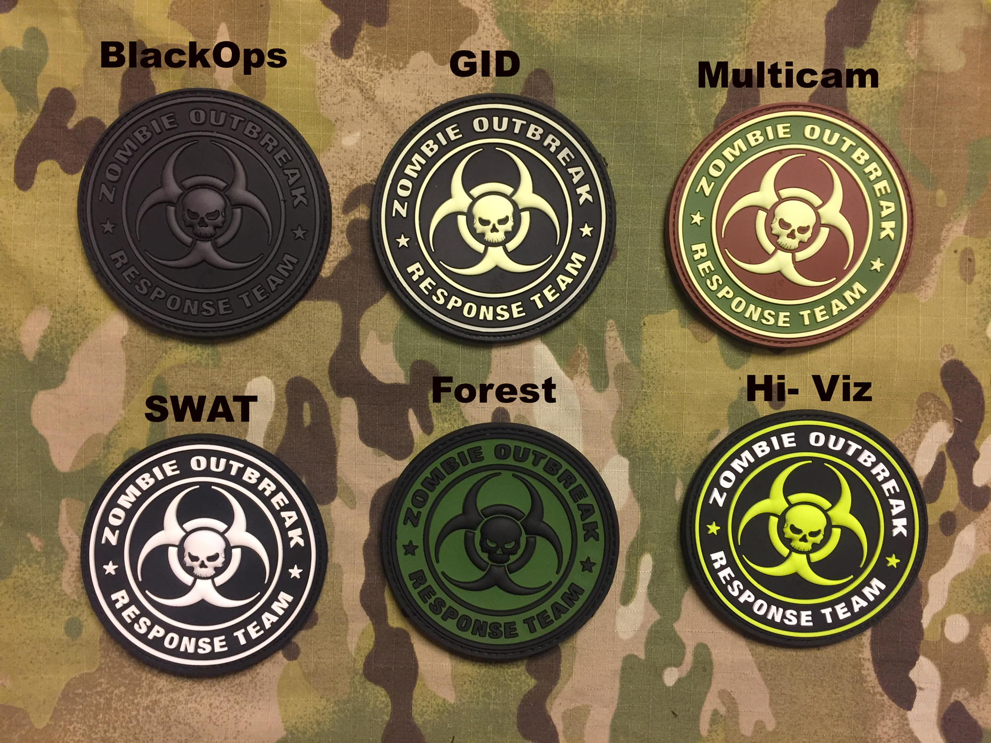 JTG Zombie Outbreak Response Team PVC Patch