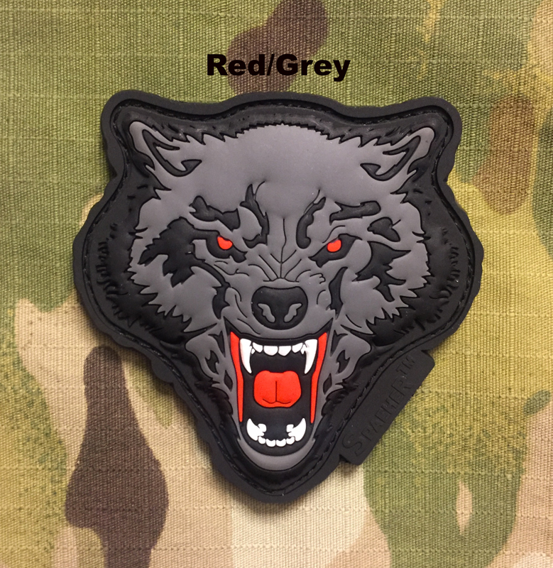 JTG Angry Wolf Head PVC Patch