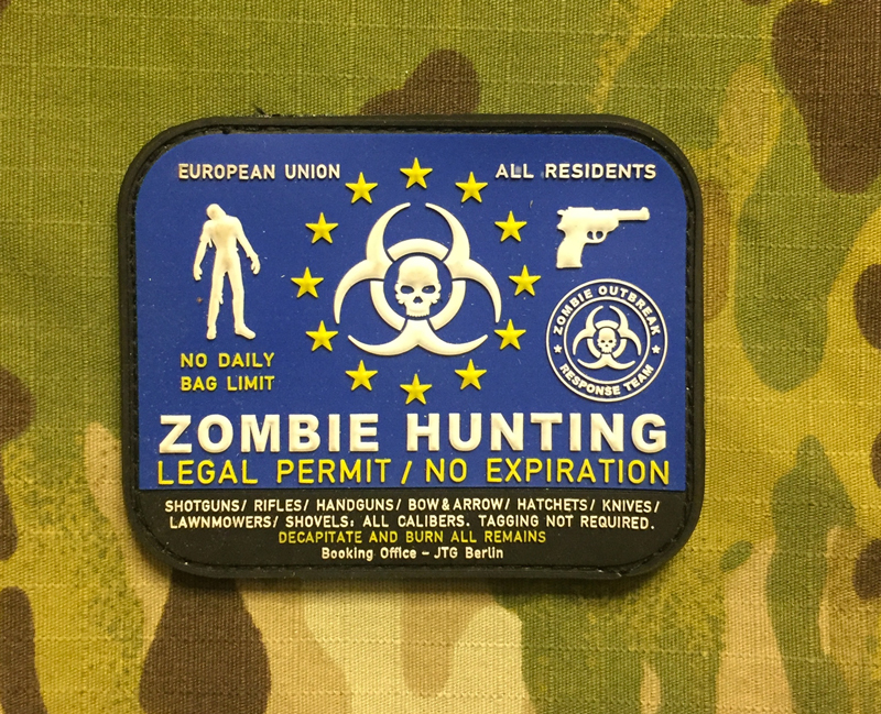 JTG Zombie Hunting PVC Patch