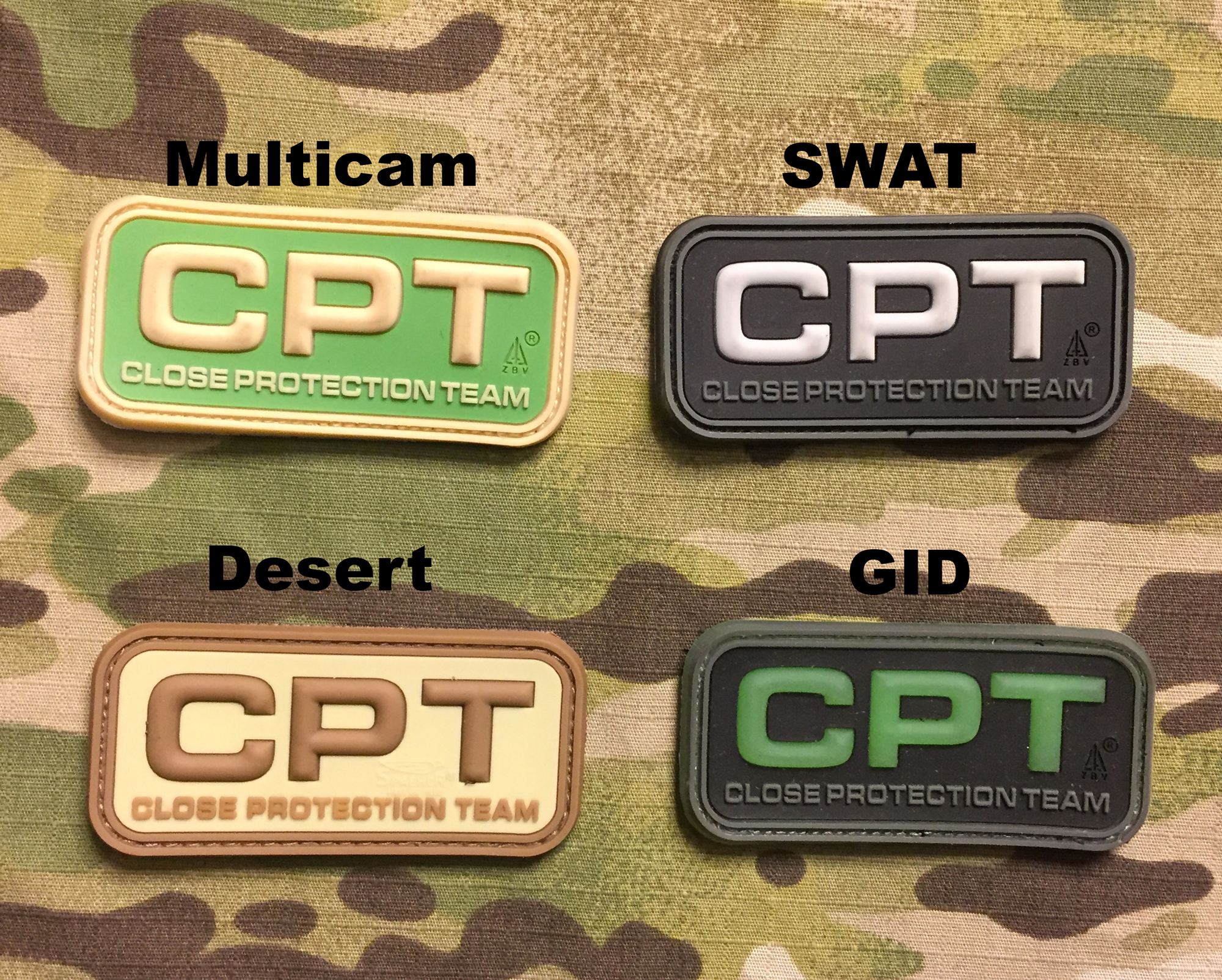 JTG CPT Close Protection Team PVC Patch