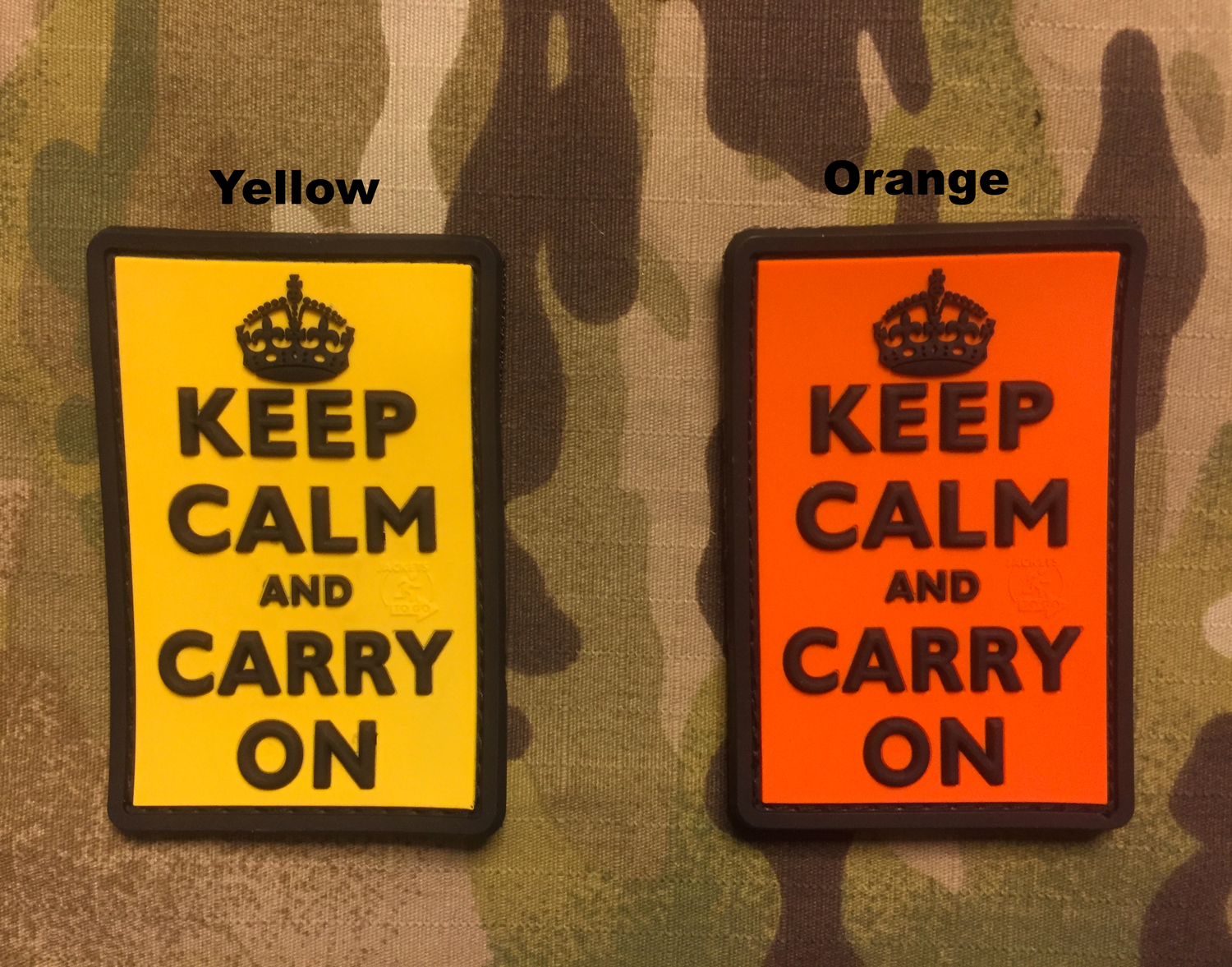 JTG KEEP CALM AND CARRY ON PVC Patch