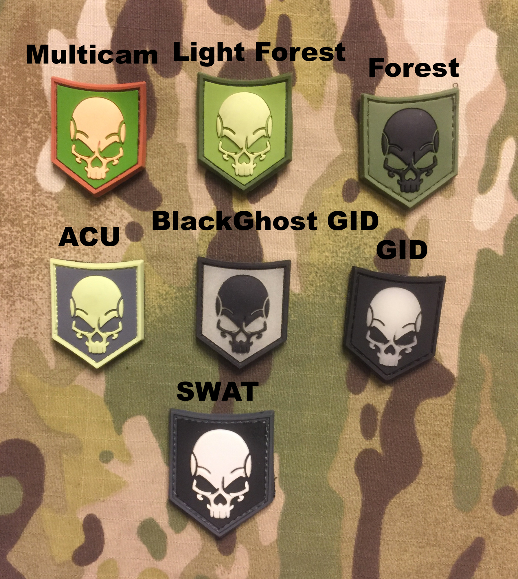 JTG SOF Skull PVC Patch