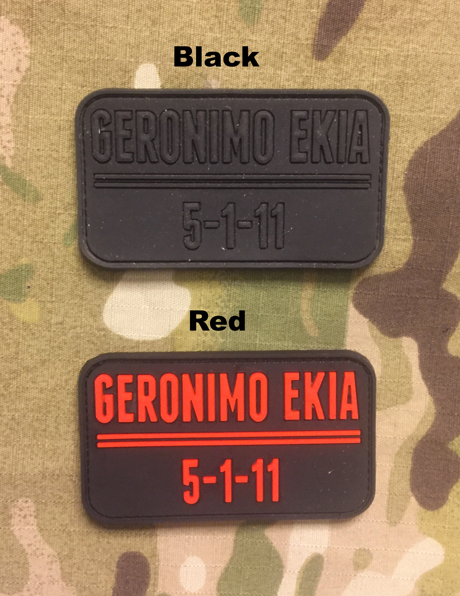 JTG Geronimo EKIA PVC Patch