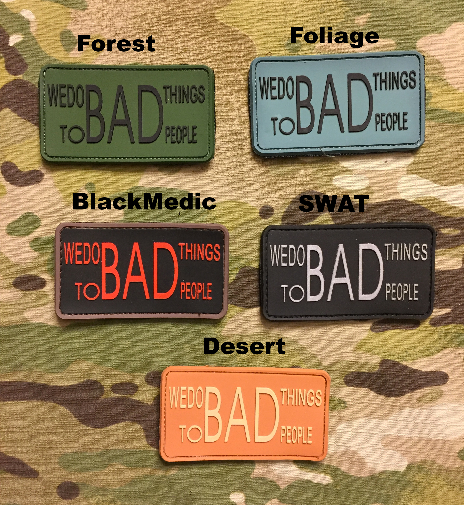 JTG We Do Bad Things PVC Patch