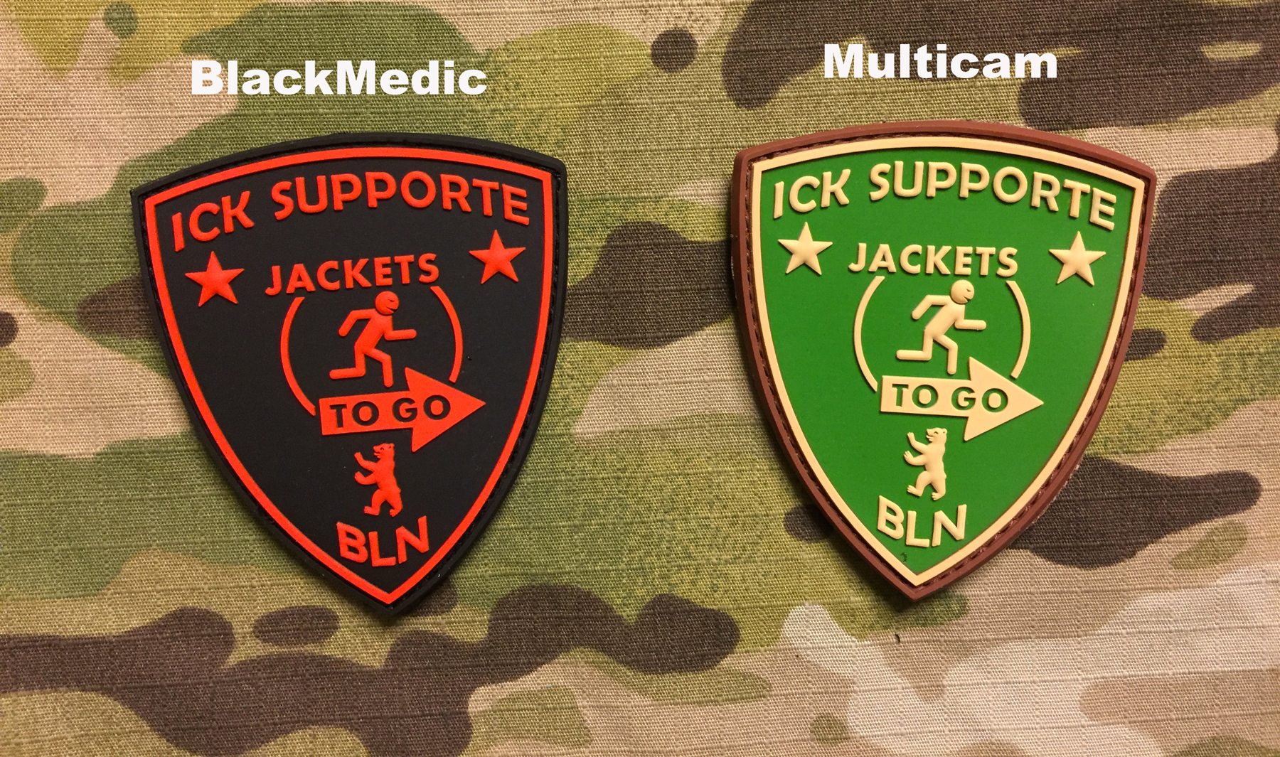 JTG ICK Supporte PVC Patch