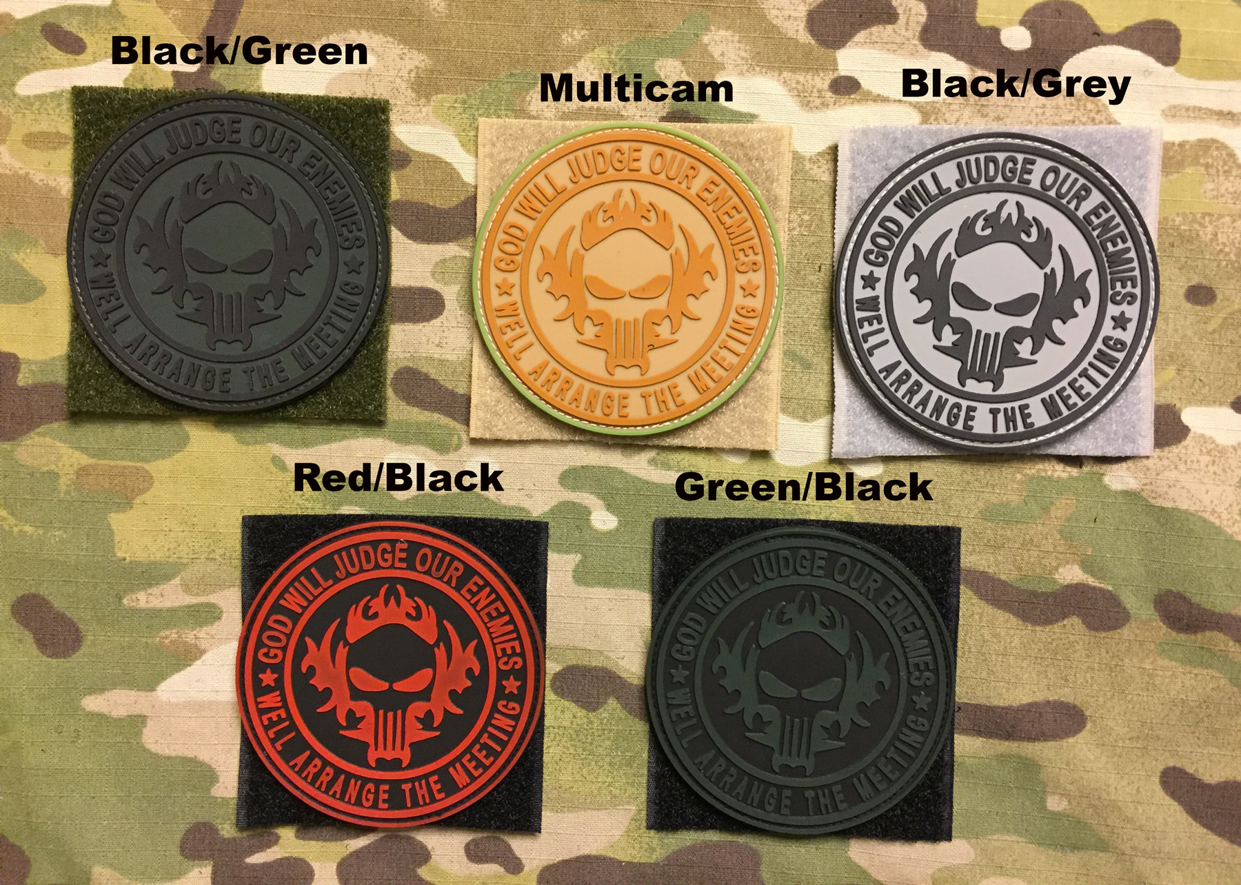 YJPF God Will Judge Our Enemies - Well Arrange The Meeting PVC Patch