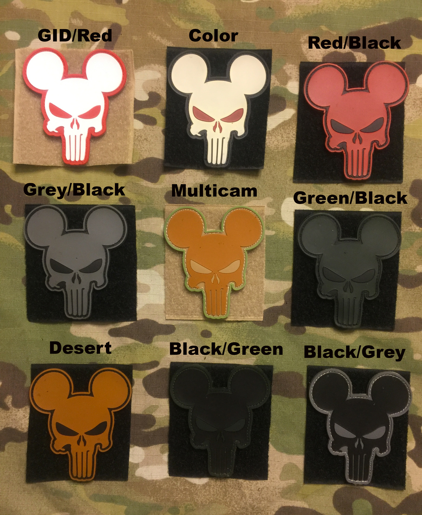 YJPF Mickey Punisher PVC Patch