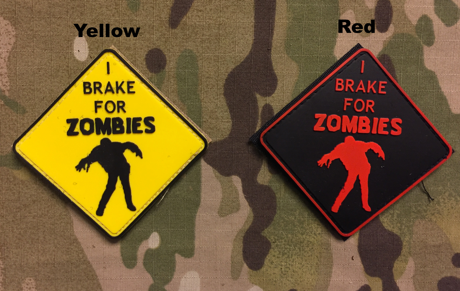 YJPF I Brake for Zombie PVC Patch