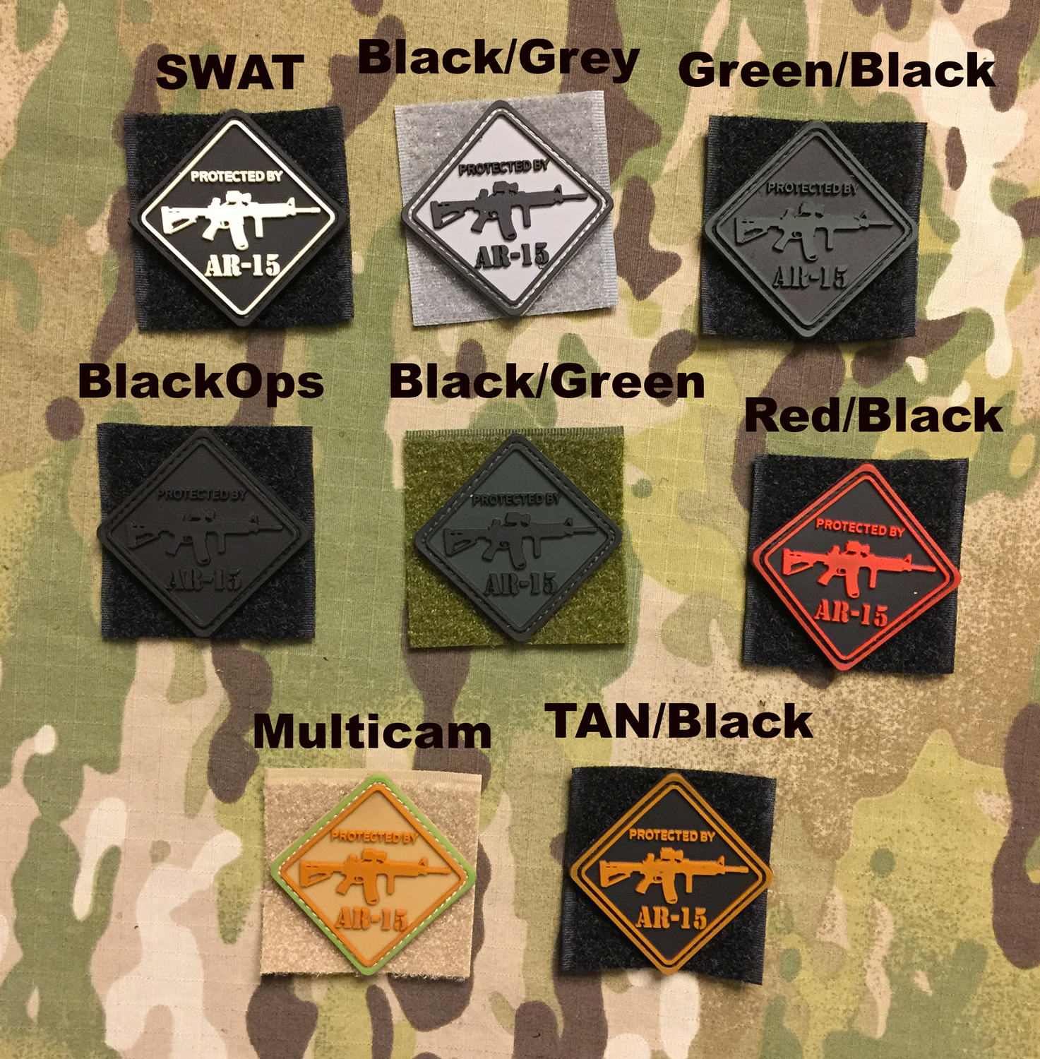 YJPF Protected by AR-15 PVC Patch