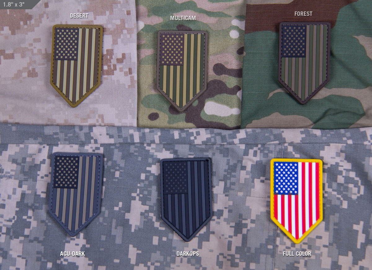 MSM US Flag Vertical Shield PVC Patch
