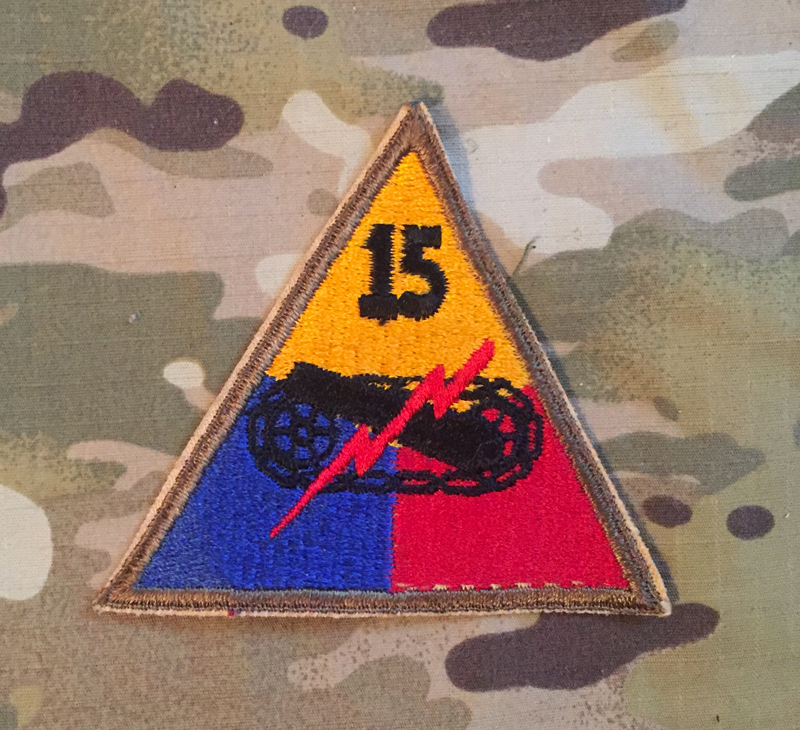 US Army 15. Armed Division WW II. Patch nášivka