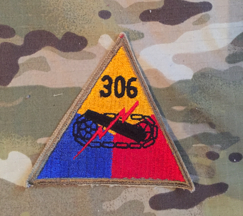 US Army 306 Tank Battalion WW II. Patch nášivka