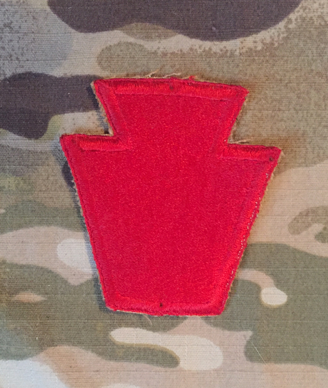 US Army 28th Infantry Division WW II. Patch nášivka