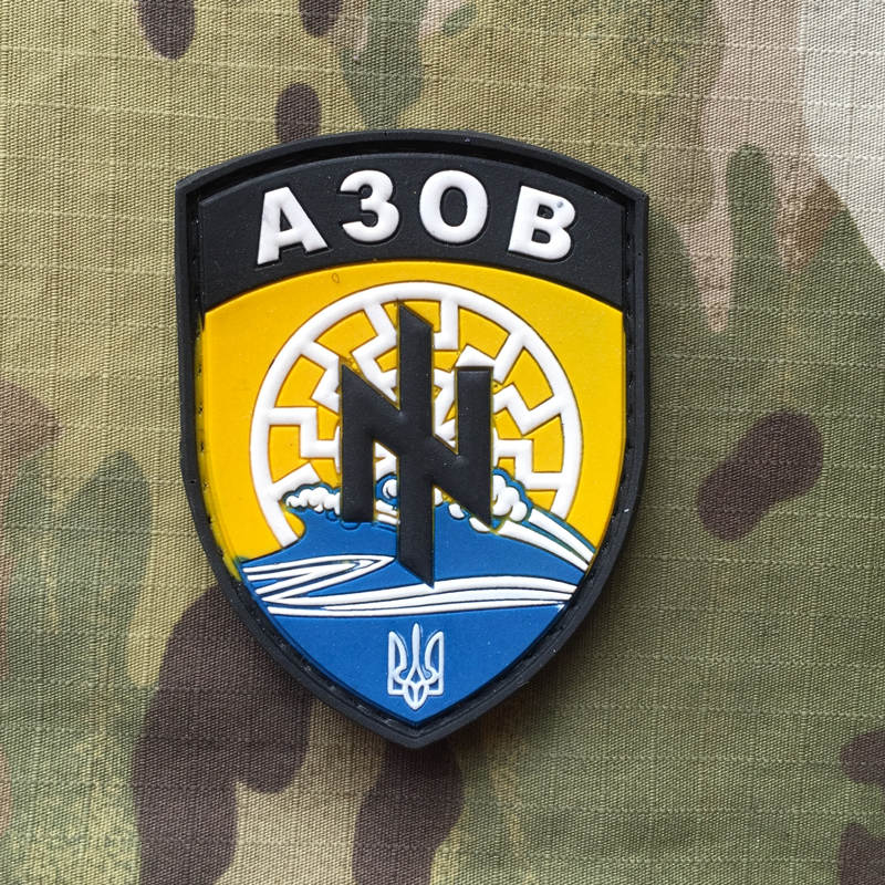 Ukrajina Military PVC Patch AZOV nášivka