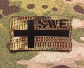 JTG Swedish Flag Infra Lasercut Cordura Patch - Multicam nášivka