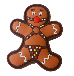 MoralPatches GINGERBREAD LEBKUCHENMANN GAGBALL BDSM Fetish PVC Patch