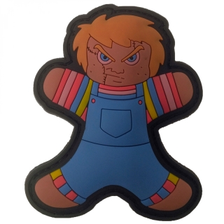 MoralPatches GINGERBREAD LEBKUCHENMANN CHUCKY PUPPE HORROR HELLOWEEN PVC Patch