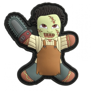 MoralPatches GINGERBREAD LEBKUCHENMANN LEATHERFACE KILLER CHAINSAW HORROR HELLOWEEN PVC Patch