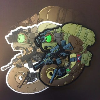 MoralPatches TACTICAL CHAMELEON LEGION DESERT OPERATOR PVC Patch