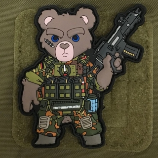 MoralPatches SOLDAT TEDDYBÄR TEDDY BÄR BUNDESWEHR FLECKTARN PVC Patch