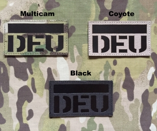 JTG German Flag with DEU IR Lasercut Patch
