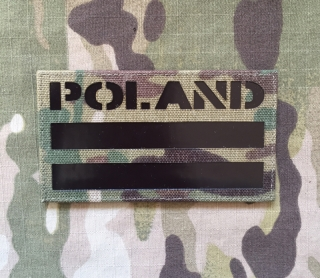 LaPatcheria Poland Flag IR Lasercut Patch - Multicam - nášivka