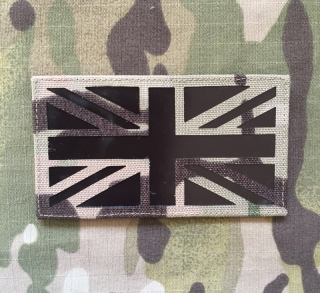 LaPatcheria UK Flag IR Lasercut Patch - Multicam - nášivka