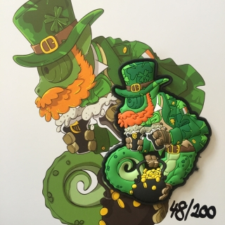 MoralPatches TACTICAL CHAMELEON LEGION ST.PATRICK OPERATOR PVC Patch