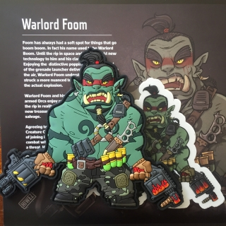 MoralPatches MYSTIC WARRIORS - FOOM THE ORC WARLORD PVC Patch