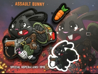 MoralPatches Tactical Bunny Hoperators - Assault PVC Patch