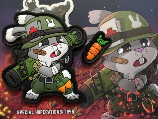 MoralPatches Tactical Bunny Hoperators - Support PVC Patch - nášivka