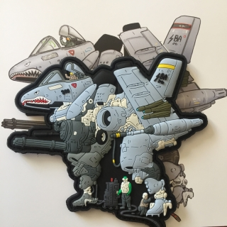 MoralPatches A10 WARTHOG MECH MACROSS PVC Patch - nášivka