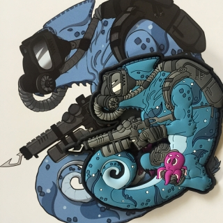MoralPatches TACTICAL CHAMELEON LEGION DIVER TAUCHER PVC Patch
