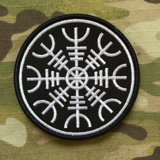 Vegvisir Viking Compass Patch ver.2 - Black - nášivka