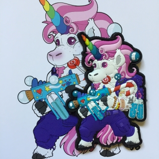 MoralPatches CANDY CORN UNICORN PVC Patch